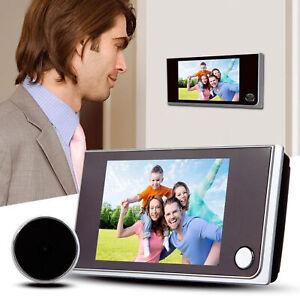 Ecran-LCD-Numerique-3-5-034-120-Peephole-Eye-Porte-Video-Sonnette-Securite-Camera