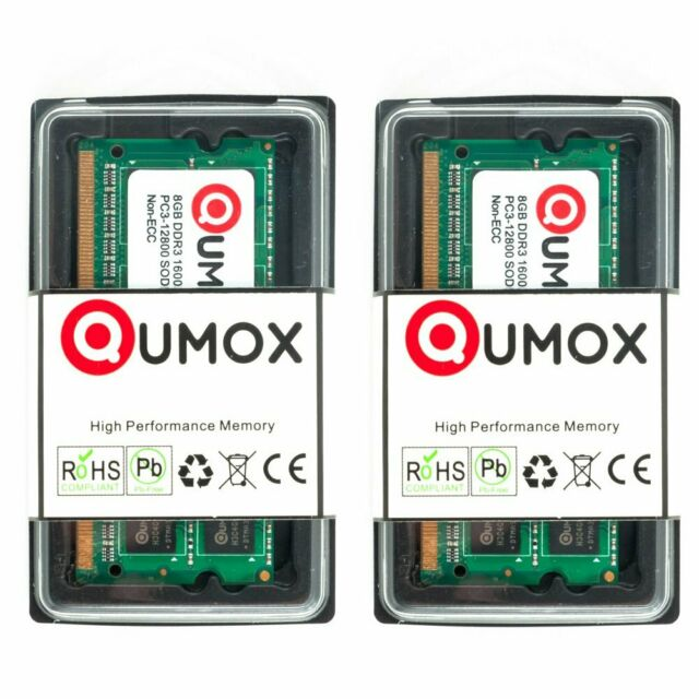 QUMOX 16GB(2x 8GB)  DDR3 1600MHz PC3-12800 (204 PIN) SO-DIMM Laptop-Speicher