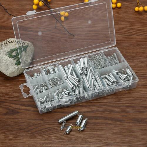 200pcs Assorted Small Metal Bulk Loose Steel Coil Spring Assortment Kit with Box