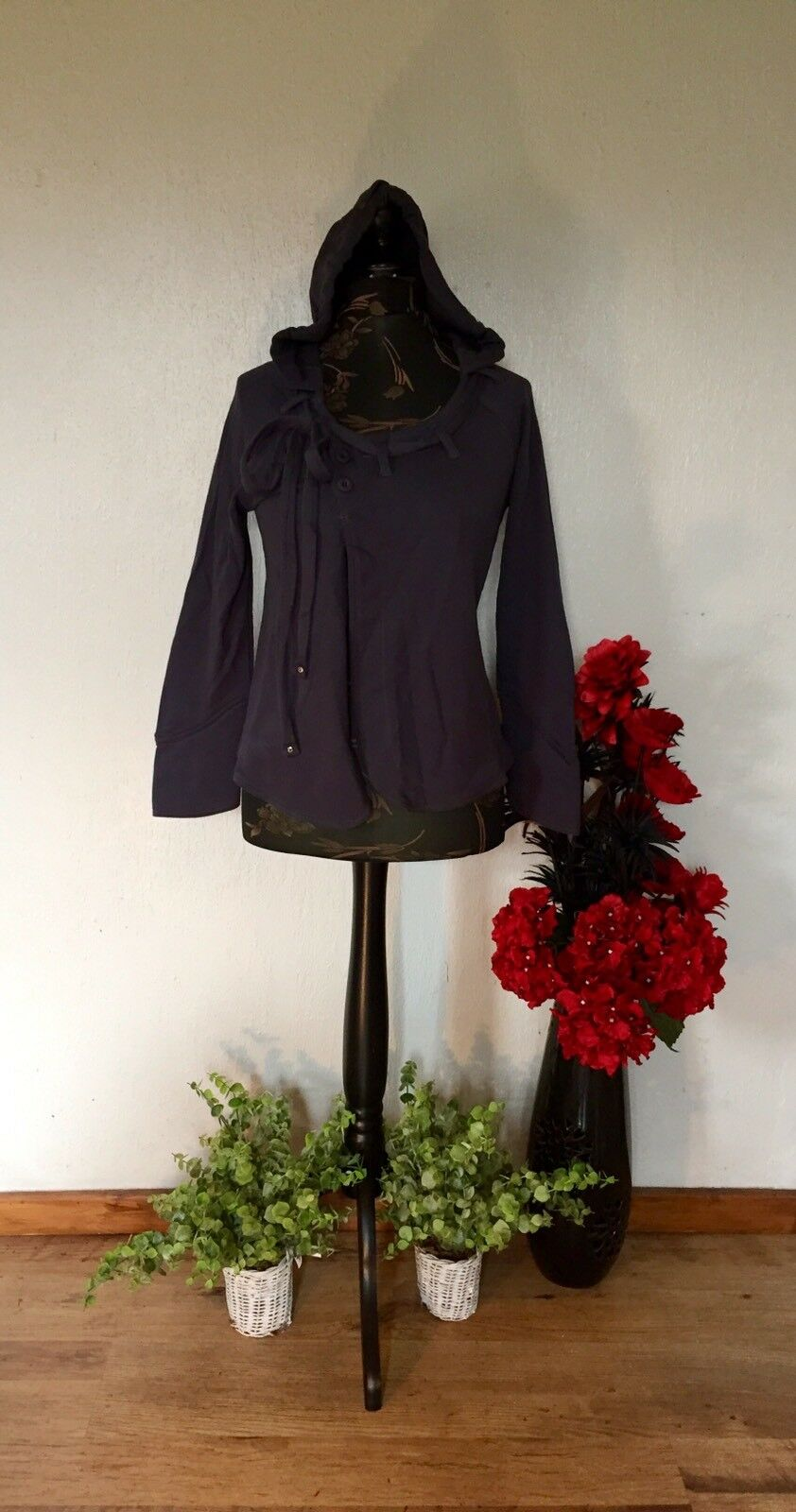 SALE HOODY BY BOHEMIA OF SWEDEN BOHEMIAN, HIPPY, LAGENLOOK RRP  SIZE S