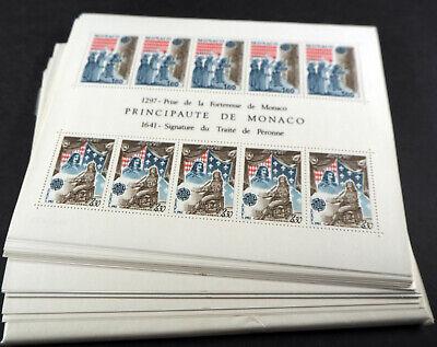 "Monaco 1982, Cept Block ""historische Ereignisse"" ** Per 100, (me 1200,-)"