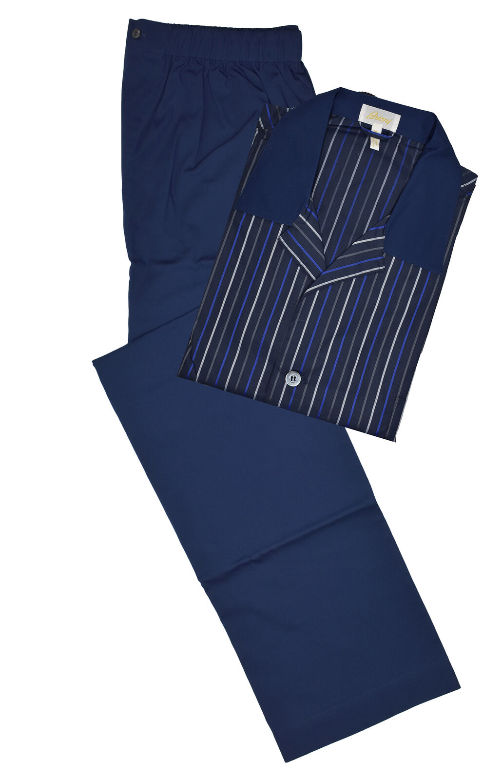 Brioni Men's bluee 100% Cotton Striped Pajamas