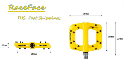"""RaceFace Chester Mountain Bike Pedal MTB BMX Bicycle 9//16/"""" ***Yellow"""