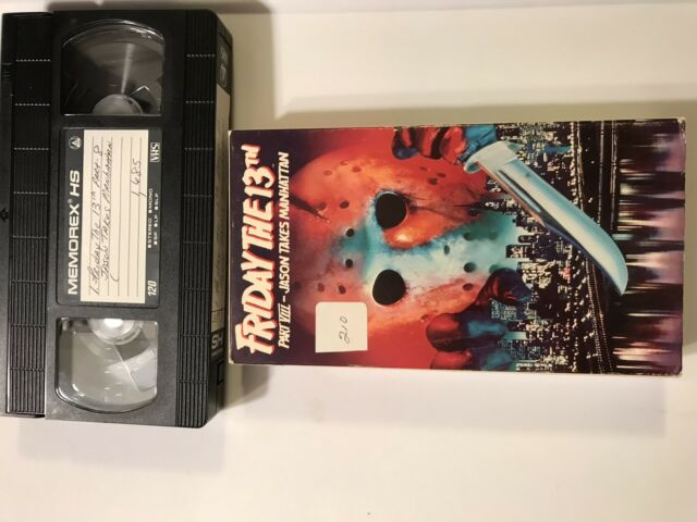 Friday the 13th Part 8 Jason Takes Manhattan VHS 1994 USED HORROR JASON Recorded