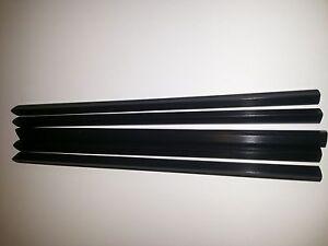 QTY-9-NINE-A4-SLIDE-BINDERS-10MM-CAPACITY-BLACK-LENGTH-297-MM-SQUARE