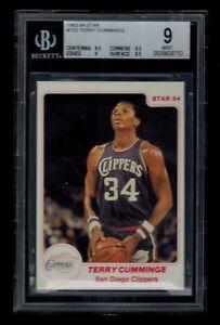 1983-84-Star-TERRY-CUMMINGS-rookie-card-123-BGS-graded-9