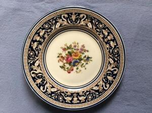 Wedgwood-Cobalt-Florentine-bone-china-6-034-bread-plate-brown-mark-W1079