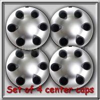 Set 4 2001-2002 Toyota Tacoma Truck Silver Center Caps, Hubcaps Aluminum Wheels