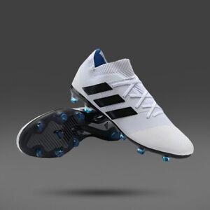 ADIDAS NEMEZIZ 18.1 SG CG6441 WOMENS Football Boots Soccer White Black Blue    eBay
