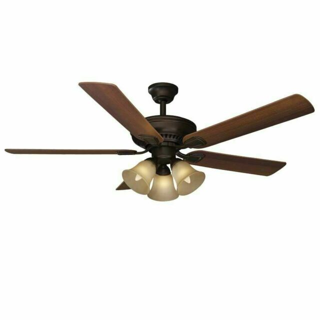 Hampton Bay 51350 Campbell 52 in. Mediterranean Bronze Ceiling Fan with Remote