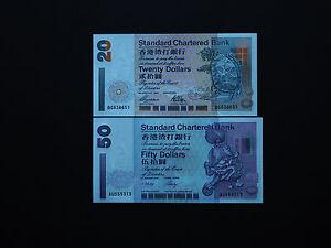 HONG KONG 50 DOLLARS SCB 2002 P 286 AU PREFIX UNC