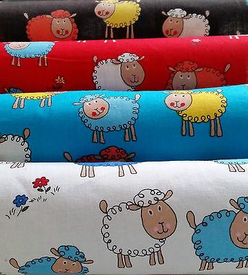 Niedlicher Baumwolldruck Stoff 100% CO, Schafe, 140cm breit in div.  Farben!