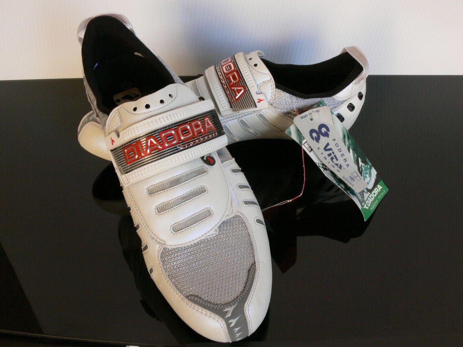 Diadora Ironheart Triathlon Cycling ROAD shoes MADE IN  ITALY US 10 - 10.5  free shipping