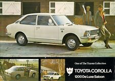 Toyota Corolla 1200 De Luxe Saloon KE20 1971-72 UK Market Leaflet Brochure