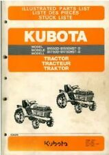 KUBOTA TRACTOR B1550D B1550HST-D B1750D & B1750HST-D PARTS MANUAL
