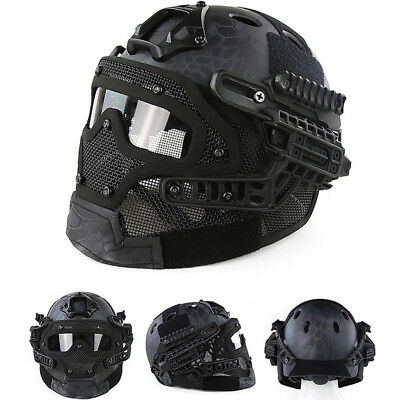 New TY Protective Goggles G4 System Full Face Mask Helmet Airsoft Paintball