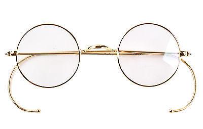 39mm Round Vintage Antique Wire Rim Eyeglass Reading Glasses Reader +0.25 ~ +5.0