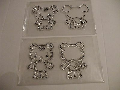 *Craft Clearance* KANBAN PATCHWORK PALS Clear Stamps Elephant  Front /& Back