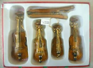 Collectable-Dolls-House-Musical-Instrument-Boxed-String-Quartet-Xmas-Decorations