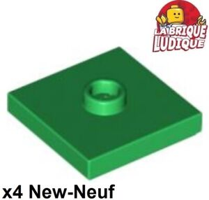 87580 NEUF Modified 2x2 with Groove and 1 Stud in Ce Black Plate Lego x 6