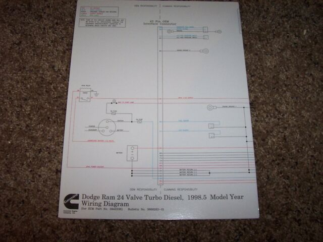 1998 5 Cummins Dodge Ram 24 Valve Electrical Wiring