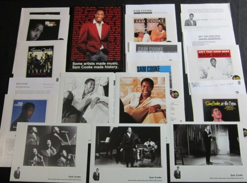 SAM COOKE 'ABKCO REISSUES' 2003 PRESS KIT—5 PHOTOS--LOTS OF CONTENT