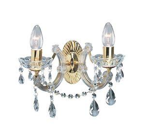 applique murale classique salon chambre coucher chrome verre or ebay. Black Bedroom Furniture Sets. Home Design Ideas