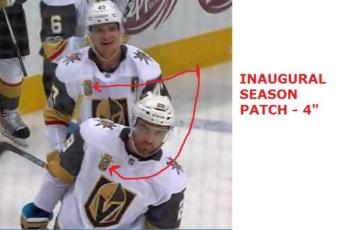 newest collection e7526 fa1ae Details about VEGAS KNIGHTS JERSEY PATCH INAUGURAL SEASON 2017- 2018 PUCK  STYLE NHL PLAYOFFS