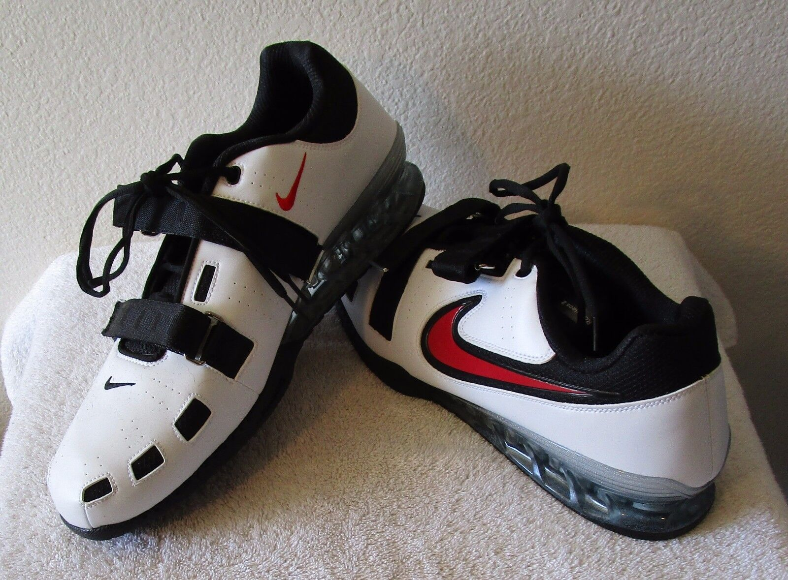 NEW Nike Romaleos 2 Mens Weightlifting Shoes 17 White/Black/Red MSRP200