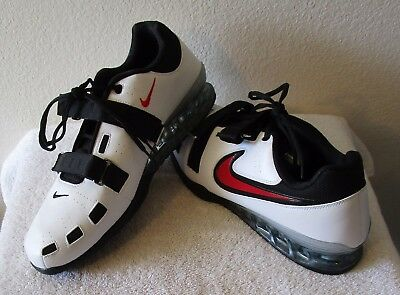 Desarrollar cielo Cambiable  NEW Nike Romaleos 2 Mens Weightlifting Shoes 17 White/Black/Red MSRP$200  886061836990 | eBay