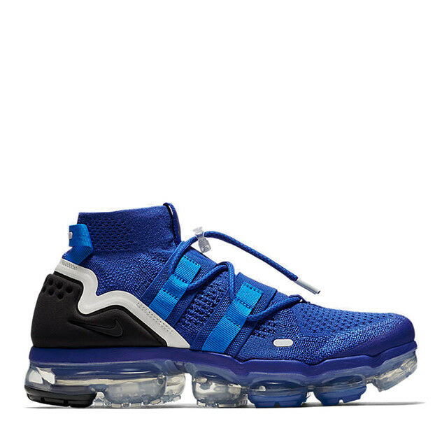 Nike Air Vapormax Utility Royal Blue Black size 9.5 AH6834-400. moc flyknit best-selling model of the brand