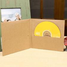 10X Disc CD Sleeve Thick Kraft CD DVD Paper Bag Cover Envelope CD Packaging