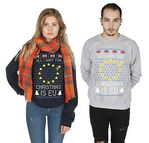 EU-Christmas-Sweater-Top-Jumper-Sweatshirt-Xmas-Ugly-Brexit-Brexmas-UK-Campaign