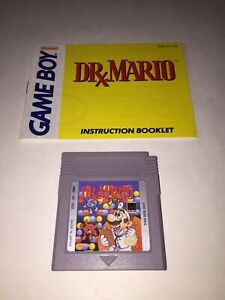Dr-Mario-Nintendo-Game-Boy-Game-amp-Instruction-Manual-Booklet