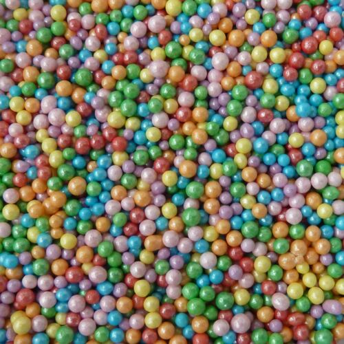 Rainbow Pearl 100s 1000s Balls Sprinkles Cake Decorations Birthday Unicorn Pony