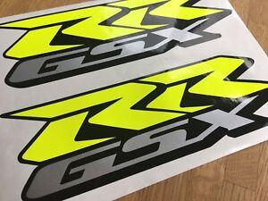 Details Zu Aufkleber Set 2tlg Suzuki Gsx R Gsxr 600 750 1000 Bj2001 19 Neu Motogp Neongelb