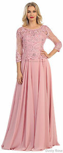 Details about FORMAL FLOWY GOWN CLASSY EVENING LONG DRESS SPECIAL OCCASION  CHURCH & PLUS SIZE