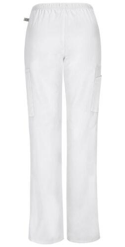Scrubs Cherokee Workwear Straight Leg Pant 44200A WHTW White Free Shipping