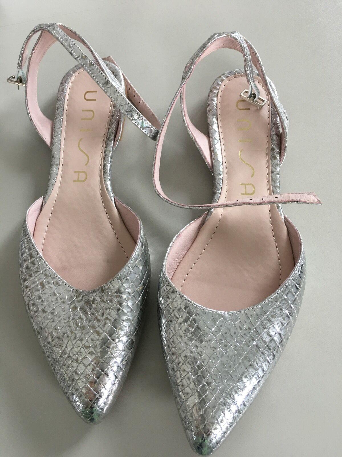 Unisa Ballerinas Riemchenballerina Damen Schuhe Silber Shimmer SCHICK NEU SCHICK Shimmer 104820