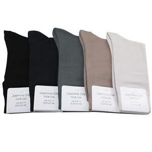 Jasmine-Silk-Luxus-Herren-100-Seide-Socken-Abend-Socken-Thermo-Socken