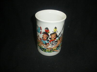 Liberal Vintage Retro Childrens Childs Ceramic Beaker Mug Red Indians Canoe Buy One Get One Free Children's Dishes Pottery & Glass