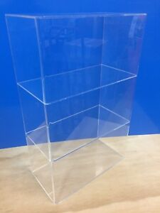 Acrylic-Lucite-Countertop-Display-ShowCase-Cabinet-12-034-x-8-034-x-19-034-h-2-shelves