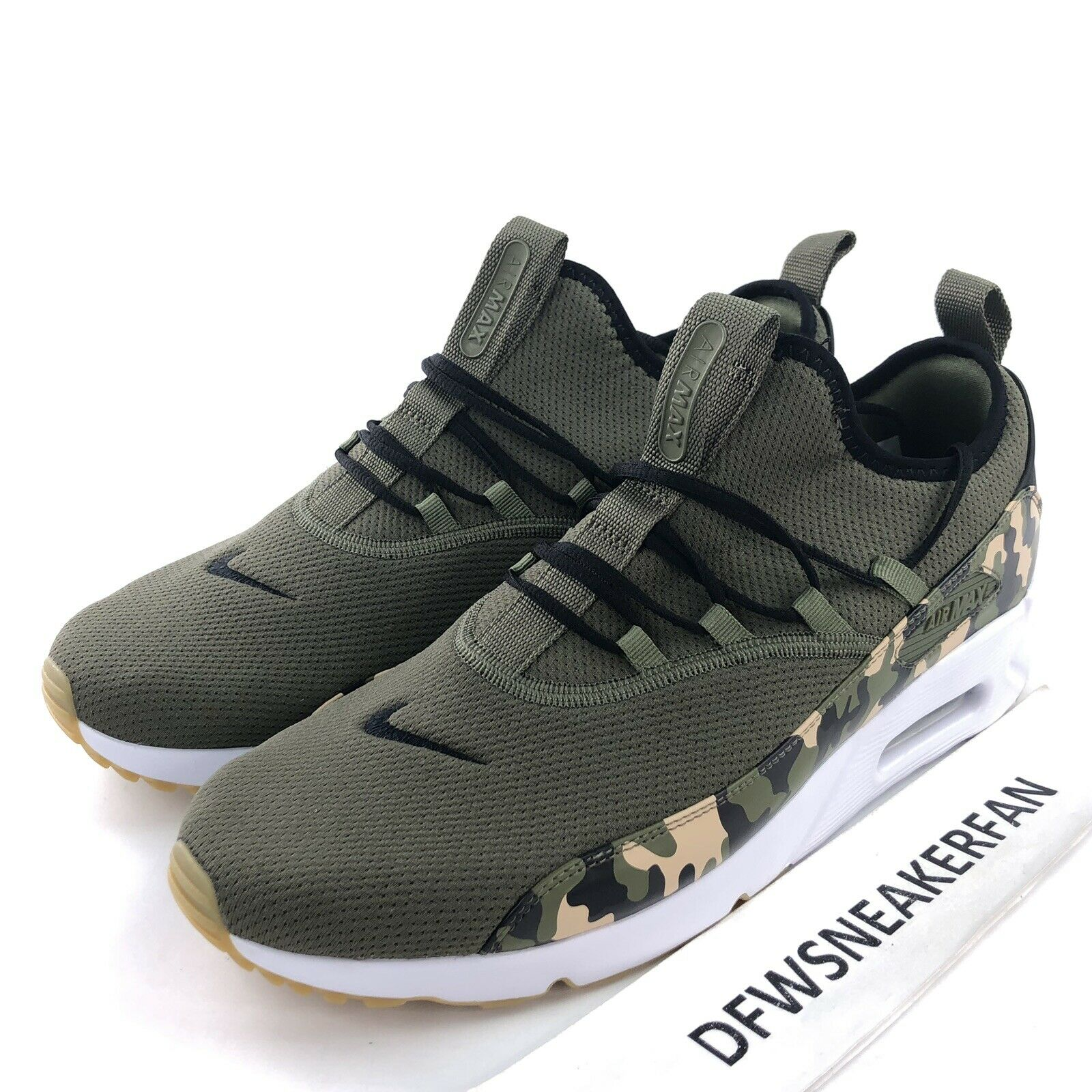 5264fe5fac Nike Air Max 90 EZ Men's 10 Camo-Medium Olive Running shoes AO1745-201