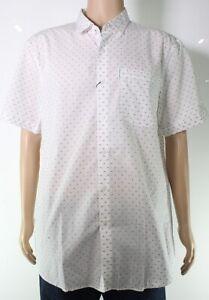 Armani Exchange Mens Shirt White Size XL Button Down Slim-Fit Dash $75 #255