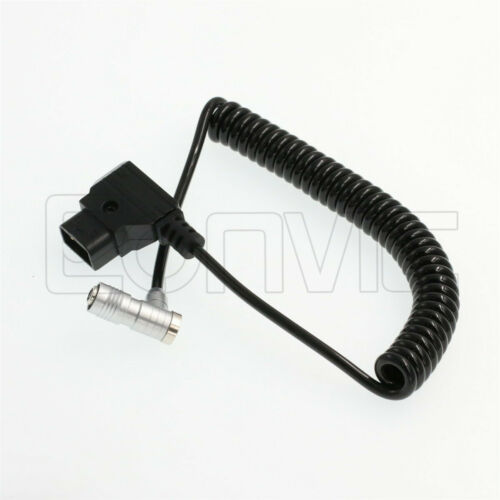 PortKeys BM5 BM7 HH7 HS7T Monitor D-tap 4 pin power cable coiled ángulo Recto 4P