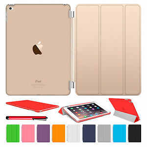 Magnetic-Slim-Leather-Smart-Cover-Hard-Back-Case-For-Apple-iPad-Air-2-3-4-mini