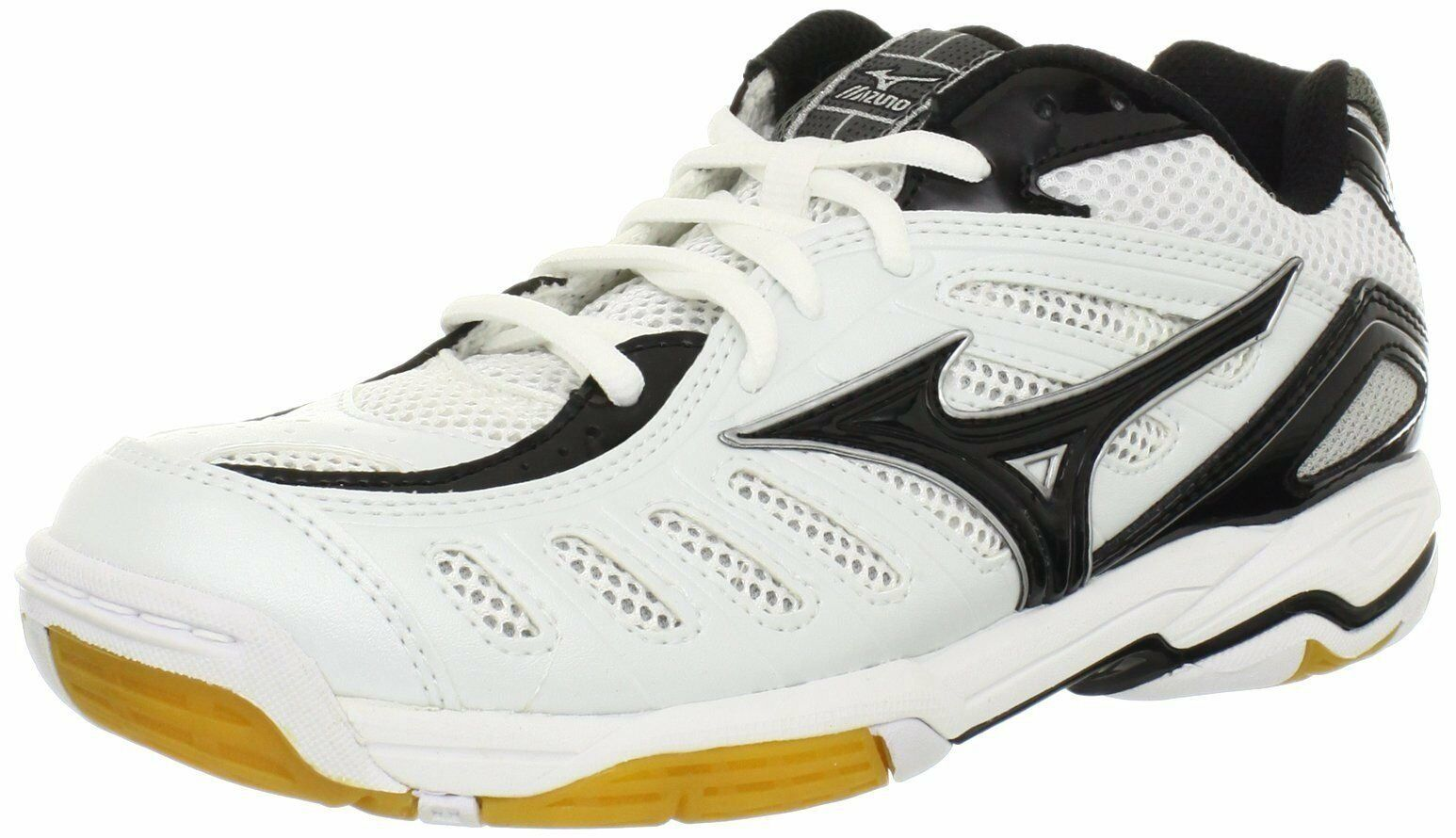 Mizuno femmes  Wave Rally 4 Volleyball Shoe,  blanc / noir , 430159 0090