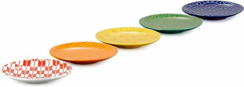Le Creuset Mini Round Plate 5 Sheets Wagara Collection Traditional Japan NEW