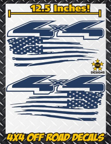 4x4 Off Road US Flag Truck Bed Decal Set GLOSS BLUE for Ford F-150 Super Duty