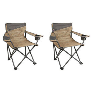 Coleman Oversized Big N Tall Quad Camping Chairs 2 Pack